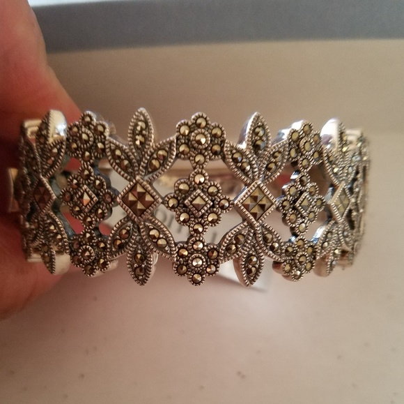 Judith Jack Jewelry - Sterling Silver 925 & Marcasite Statement bracelet